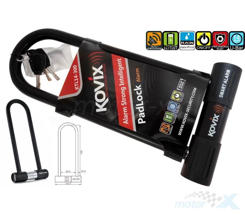Blokada antykradzieżowa U-Lock z alarmem 120DB KOVIX KTL14-300