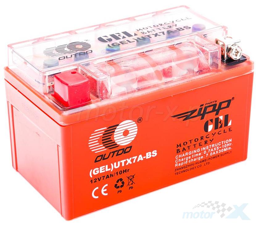 Akumulator OUTDO GEL YTX7A-BS (150x87x93)