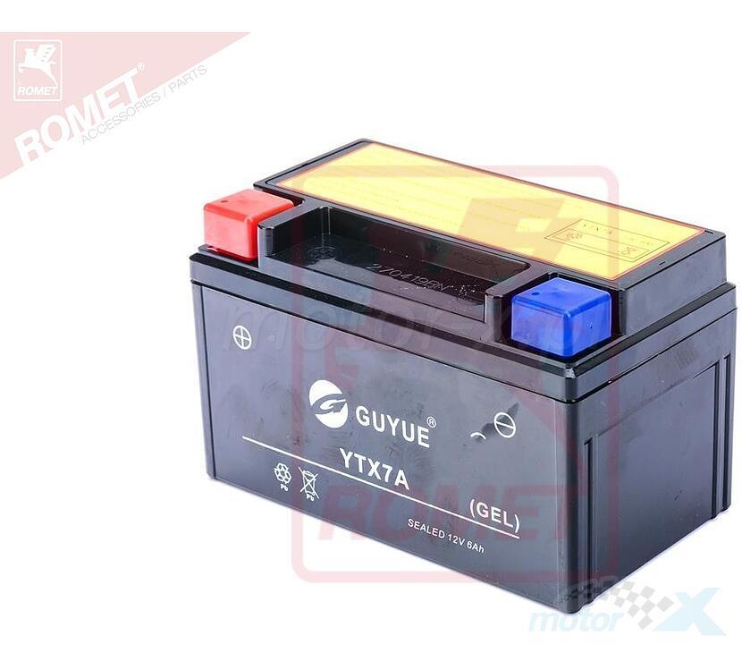 Akumulator żelowy GUYUE YTX7A-BS 12V 6Ah 151x87x95