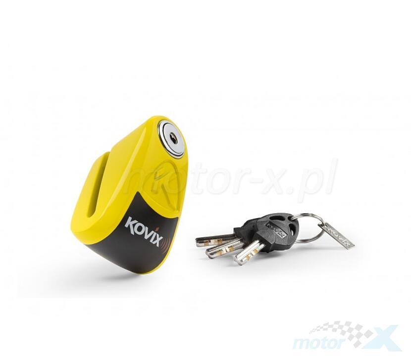 Blokada tarczy hamulcowej z alarmem KOVIX KAL6 żółta