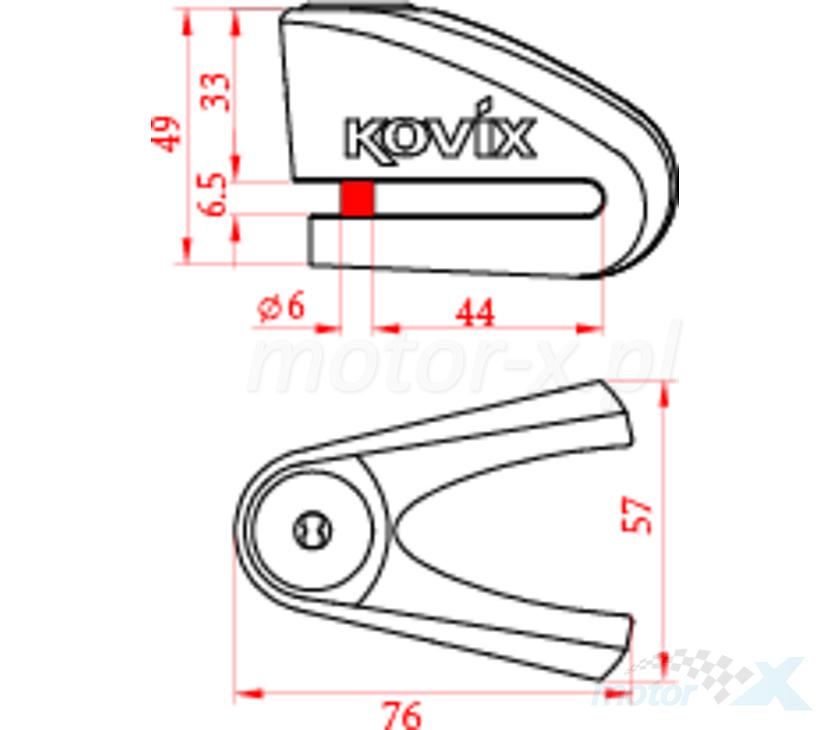 Blokada tarczy hamulcowej pomarańczowa Kovix KVC/Z1