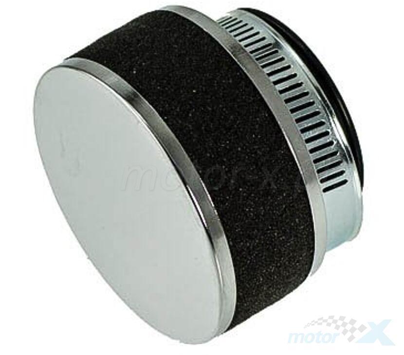 Filtr powietrza stożkowy 32mm 0° gąbka chrom