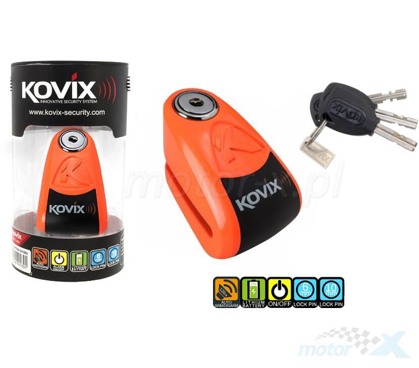 Blokada tarczy hamulcowej pomarańczowa Kovix KAZ10