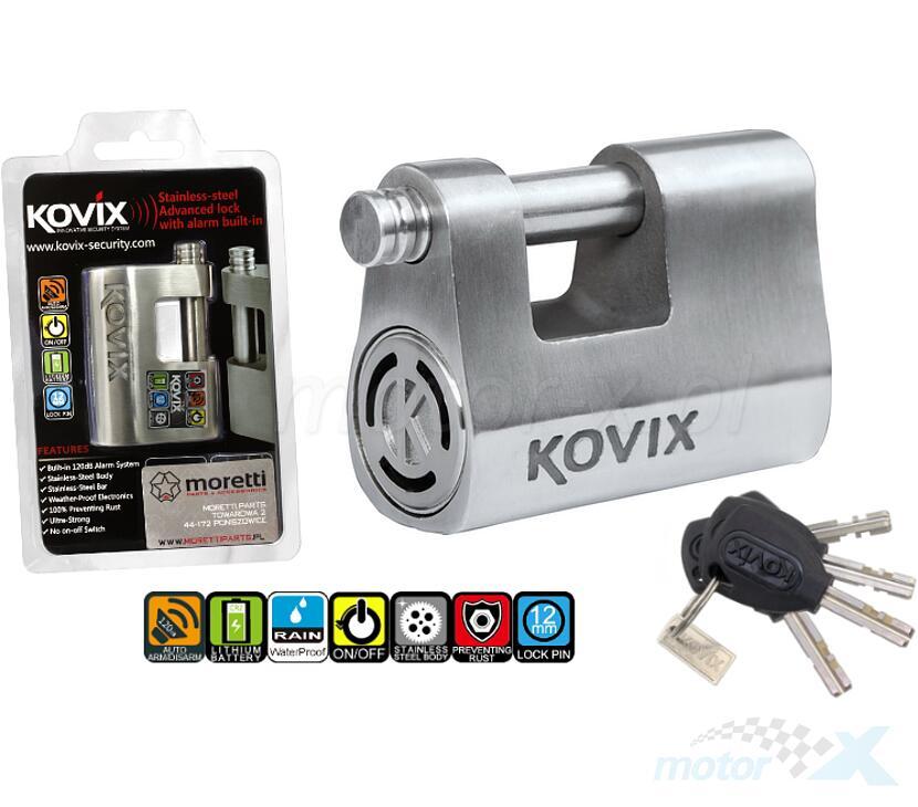 Kłódka  ze stali nierdzewnej KOVIX KBL-12