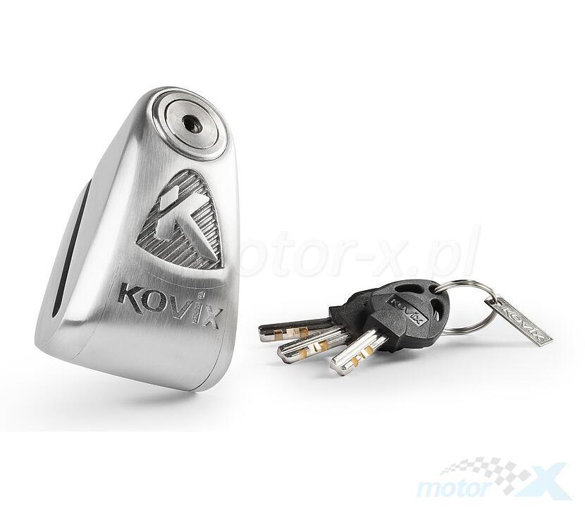 Blokada tarczy hamulcowej z alarmem KOVIX KAL14 ze stali nierdzewnej