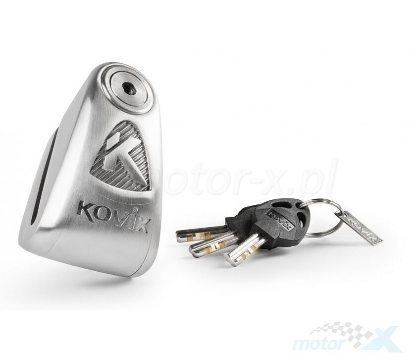 Blokada tarczy hamulcowej z alarmem KOVIX KAL6 ze stali nierdzewnej