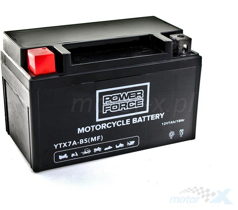Akumulator bezobsługowy Power Force YTX7A-BS 12V 7Ah 150x87x94mm 90CCA