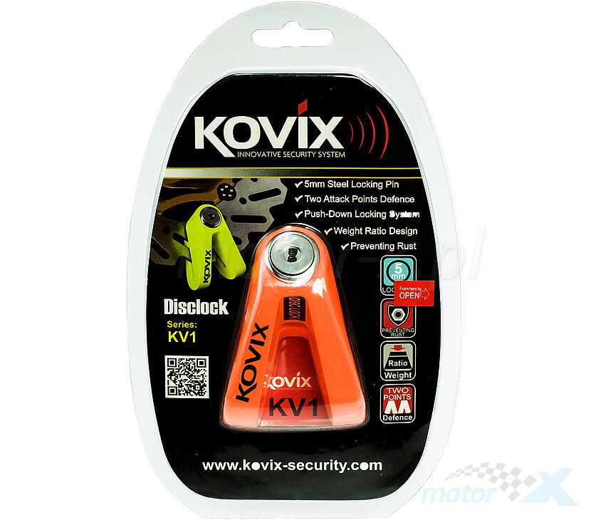 Blokada tarczy hamulcowej 5mm pomarańczowa KOVIX KV1